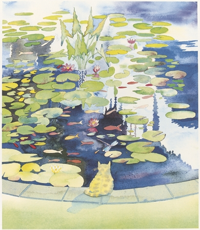 Cat at the Pond
