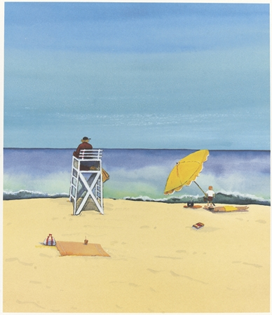 Lifeguard : Signed Limited Edition Prints : Susan Davis Art | artist, painter, illustrator, New Yorker covers, artwork, limited edition signed prints