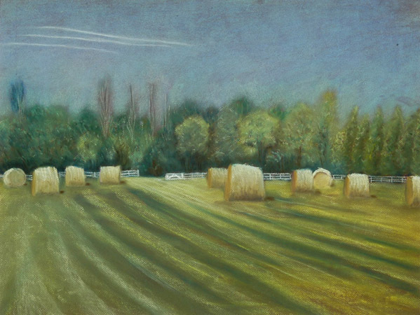 Hay Field : Originals : Susan Davis Art | artist, painter, illustrator, New Yorker covers, artwork, limited edition signed prints
