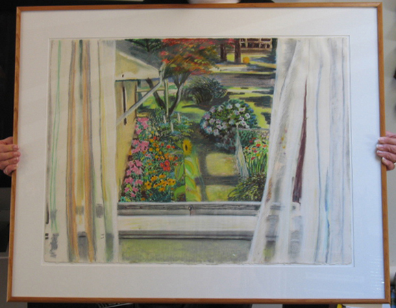 Silver Lake Garden : Originals : Susan Davis Art | artist, painter, illustrator, New Yorker covers, artwork, limited edition signed prints